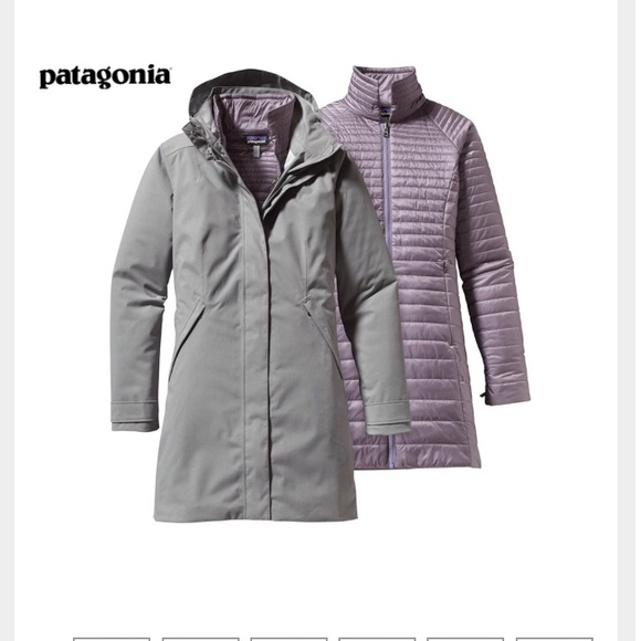 d40744bfe2f NWOT Patagonia Vosque 3-in-1 Parka
